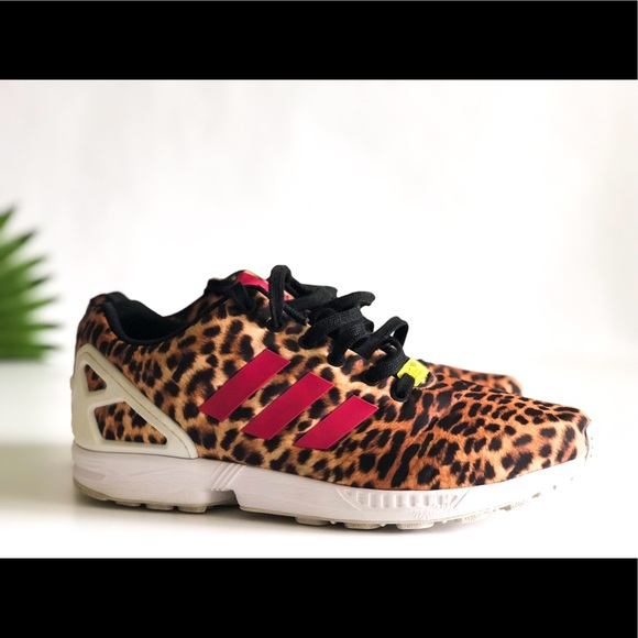 126cd4209 ... norway adidas zx flux cheetah print women sz 10 men sz 8 73d07 da52b
